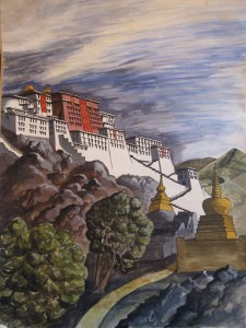 The Palace at Leh painted by me in 1981