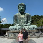 Scott and Sandra at the Great Buddha of Kamakura