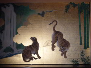 Tigers at the Tokugawas castle in Nagoya