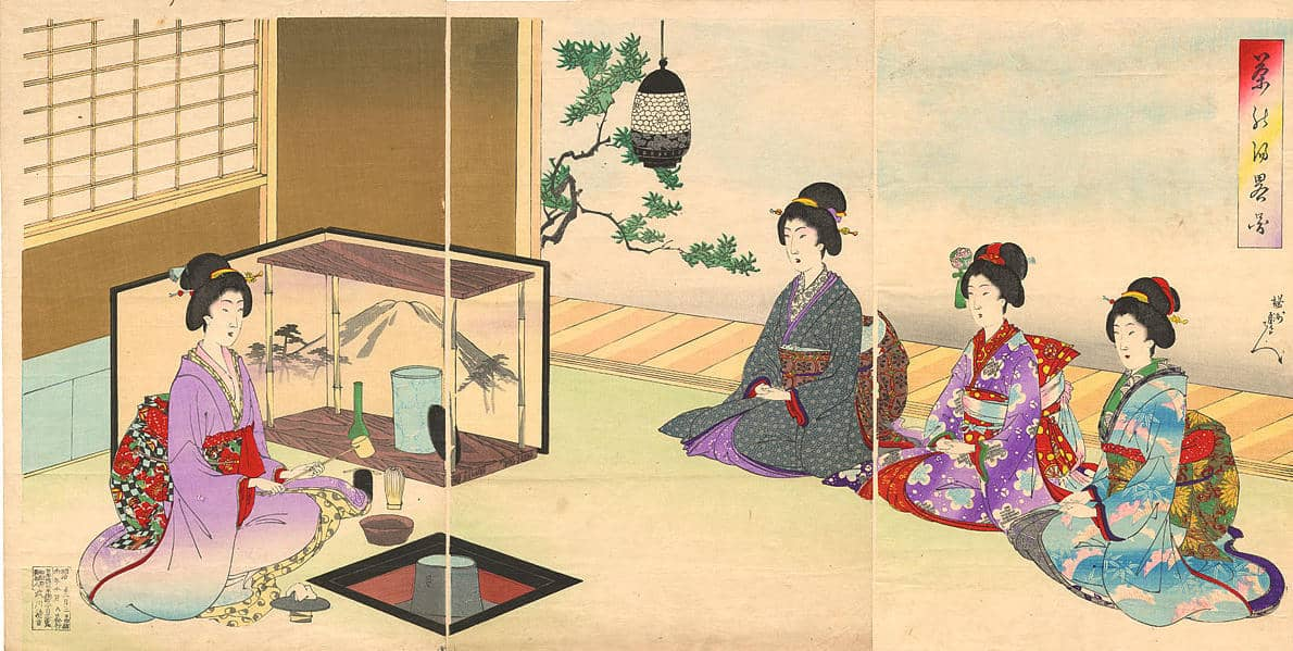 Tea ceremony at the time of The Shogun's Queen