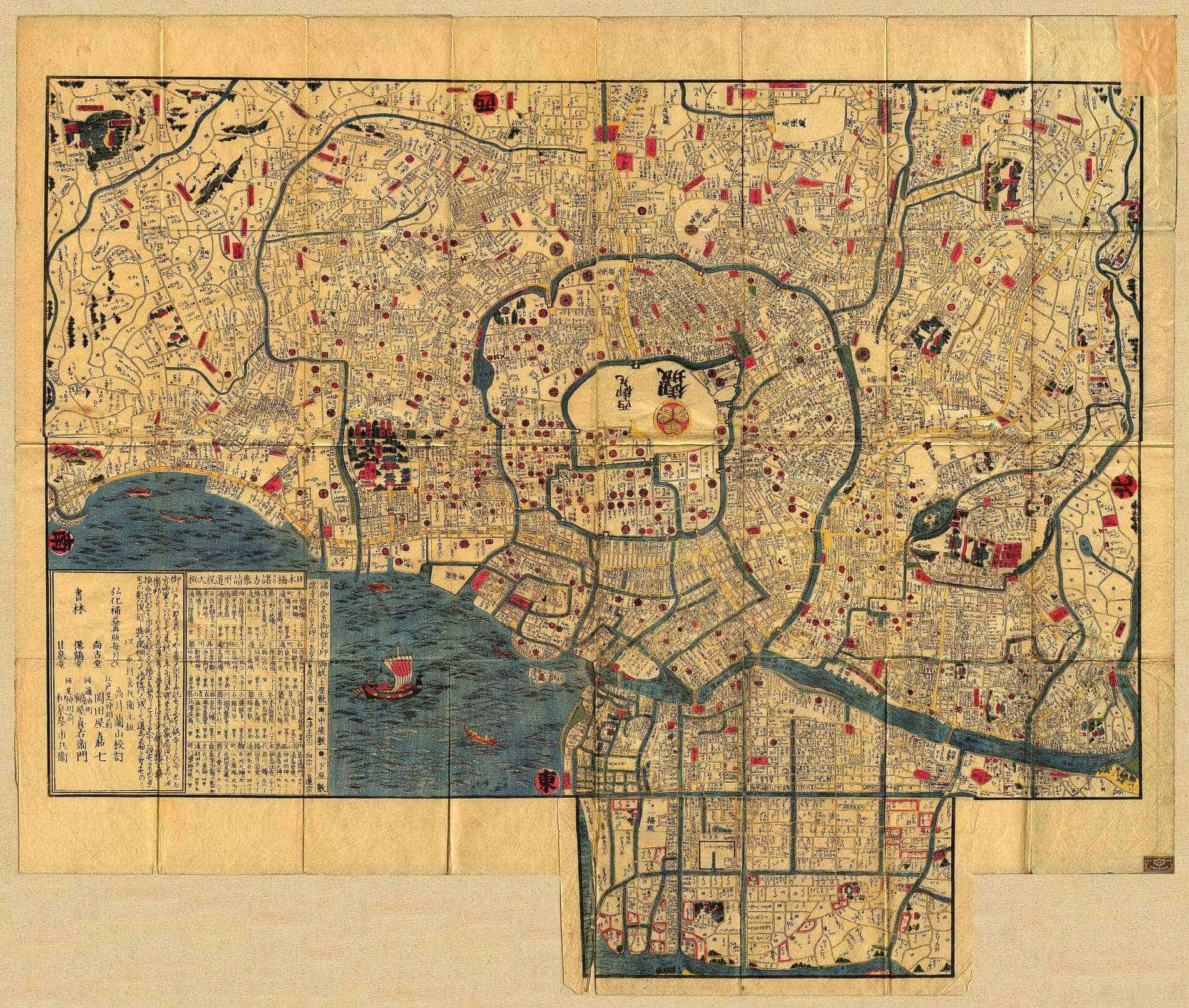 Map of Edo