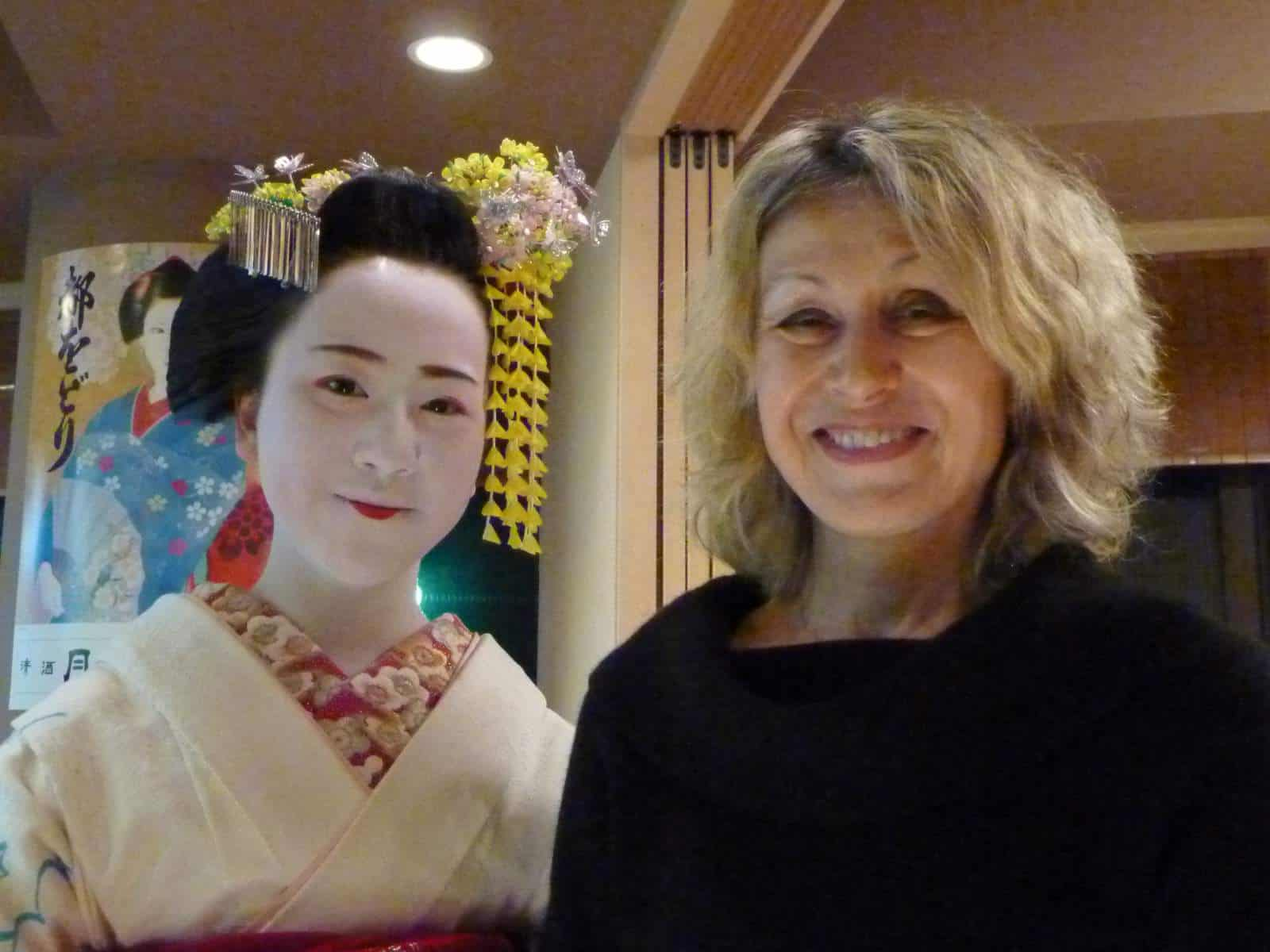 Me with a maiko (trainee geisha) called Mame-chan