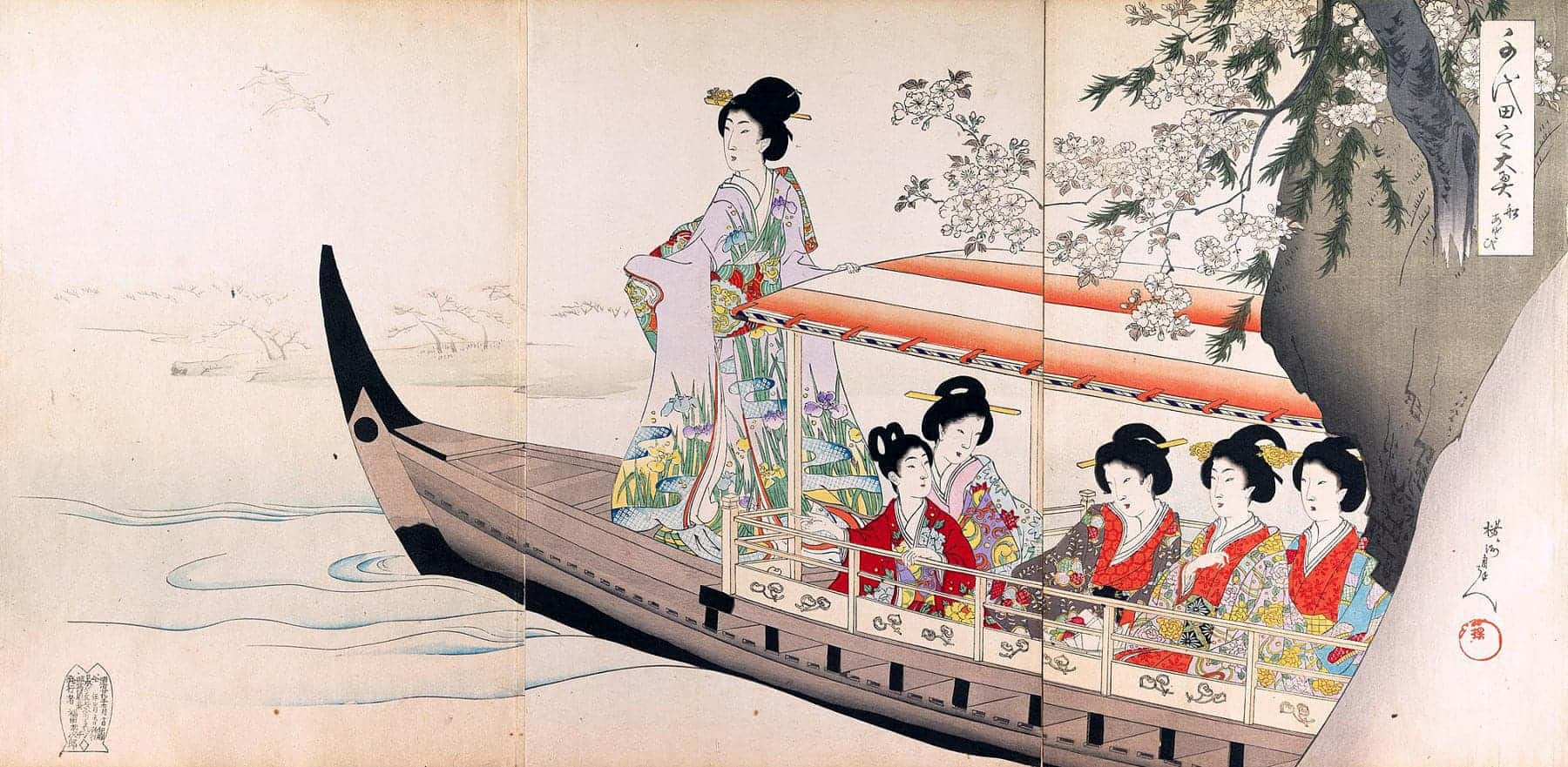 Life in the Women's Palace as imagined by the artist Hashimoto Chikanobu