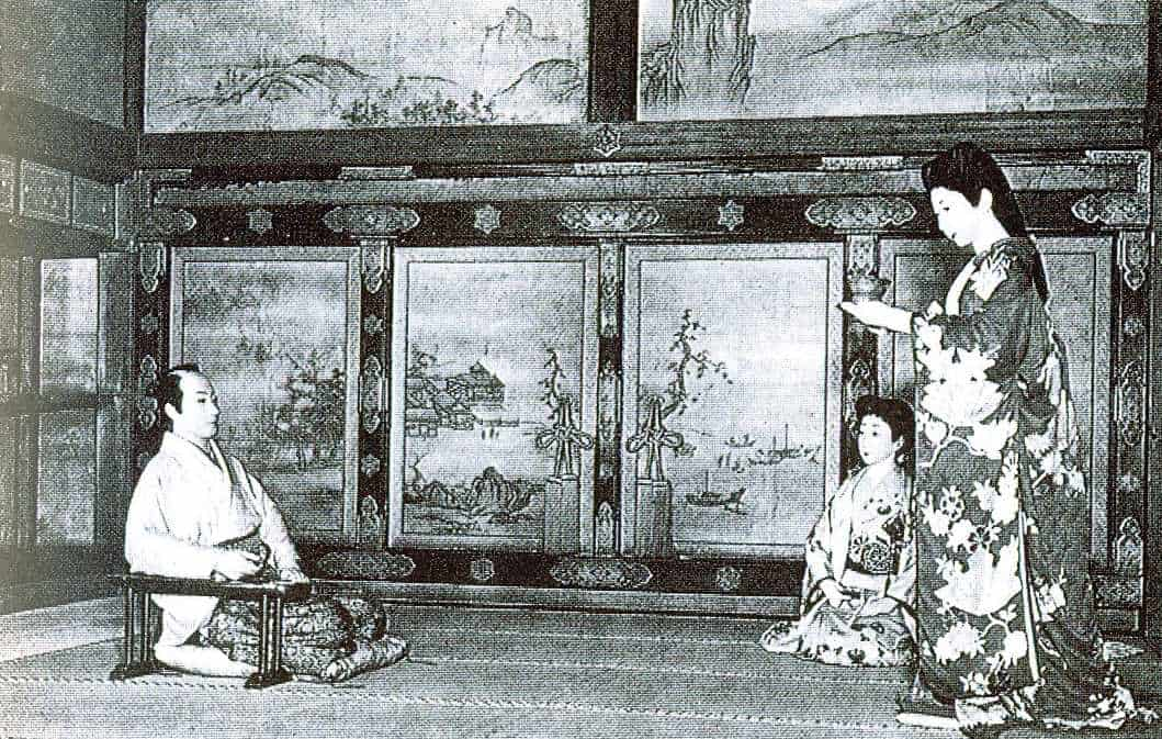 Shogun being served by his ladies - tableau, Nijo Castle, Kyoto