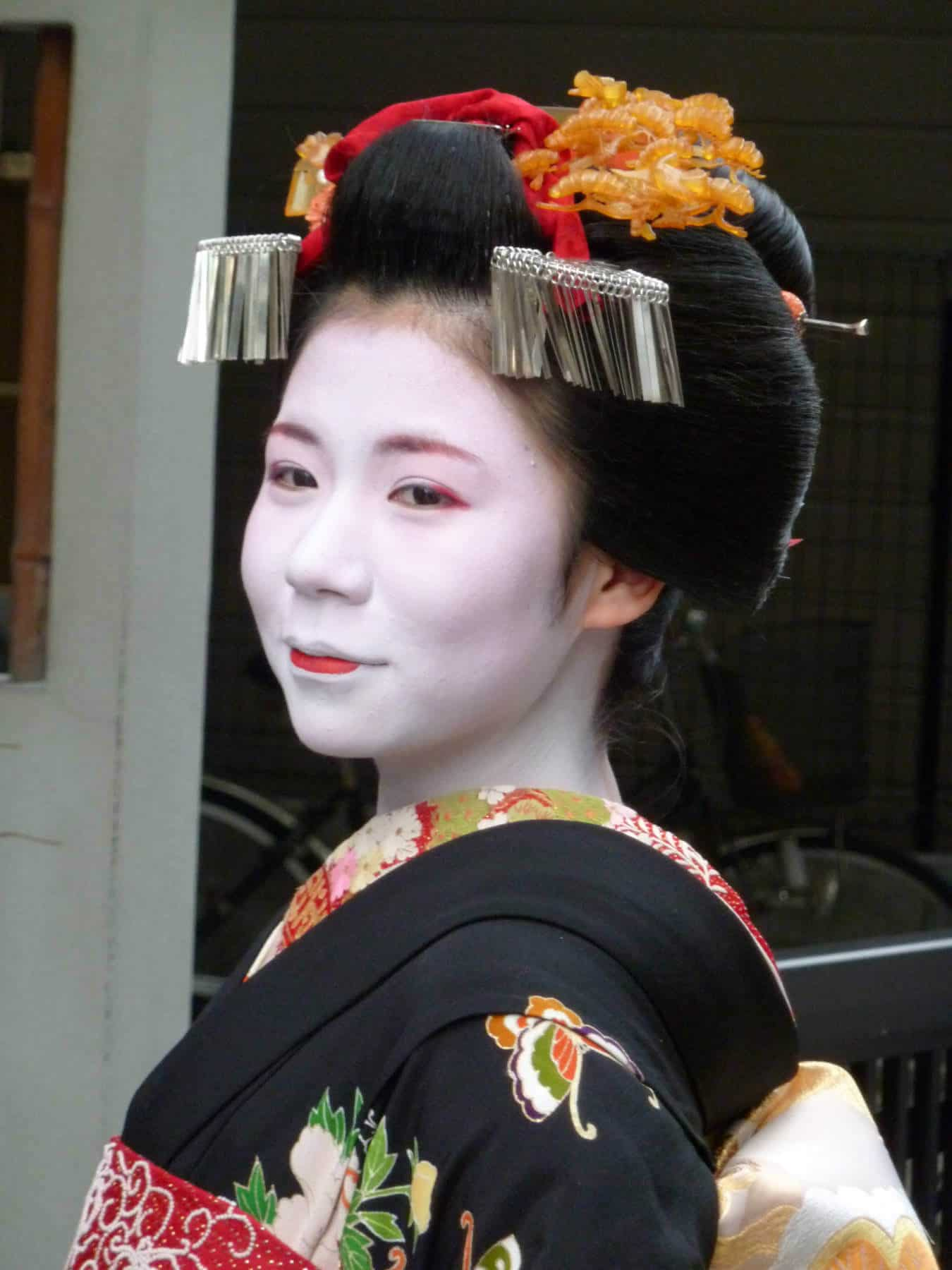 15-year-old maiko Ko-ume all dressed up for her debut