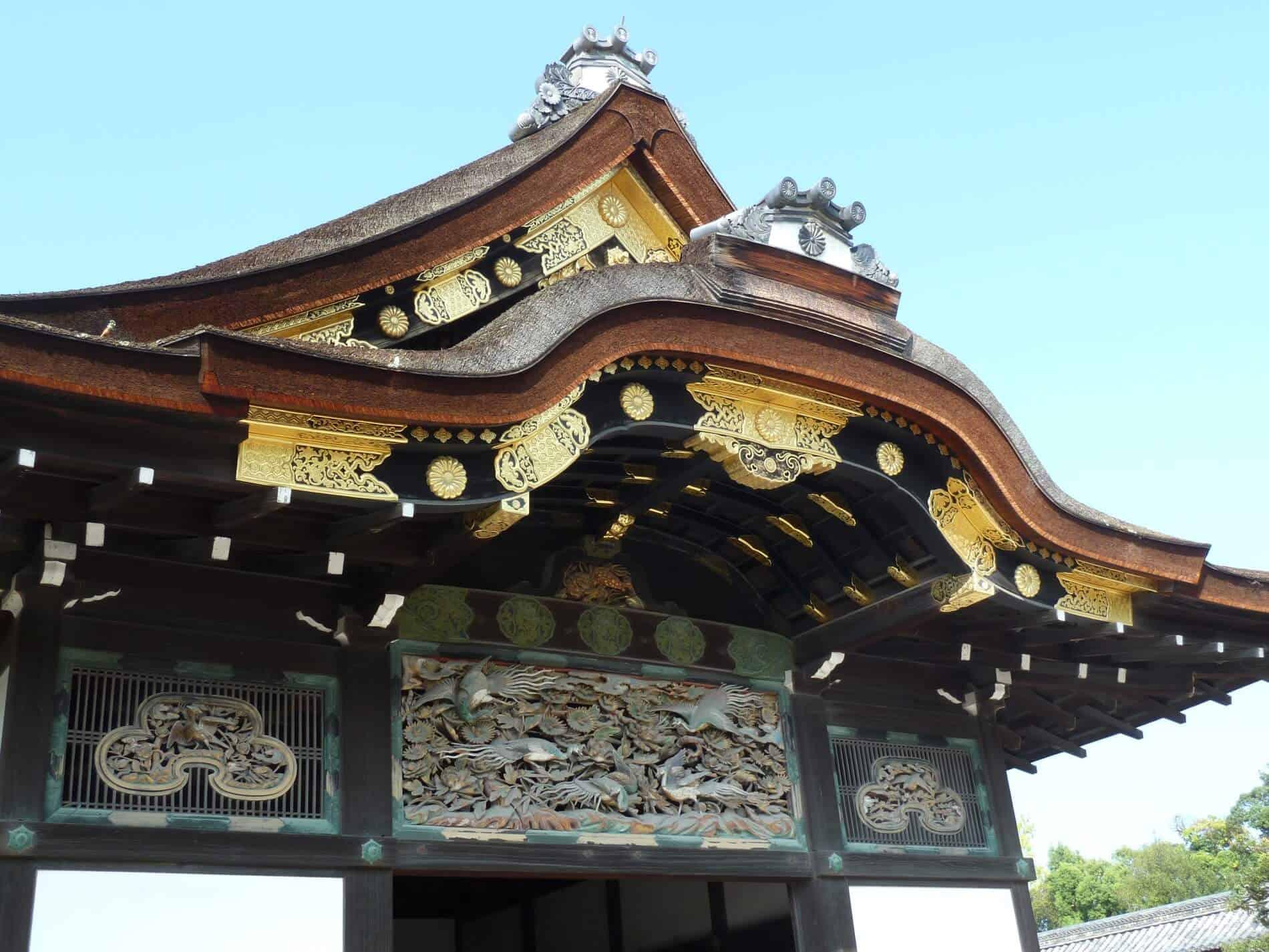 The magnificent gate of Nijo Castle in Kyoto