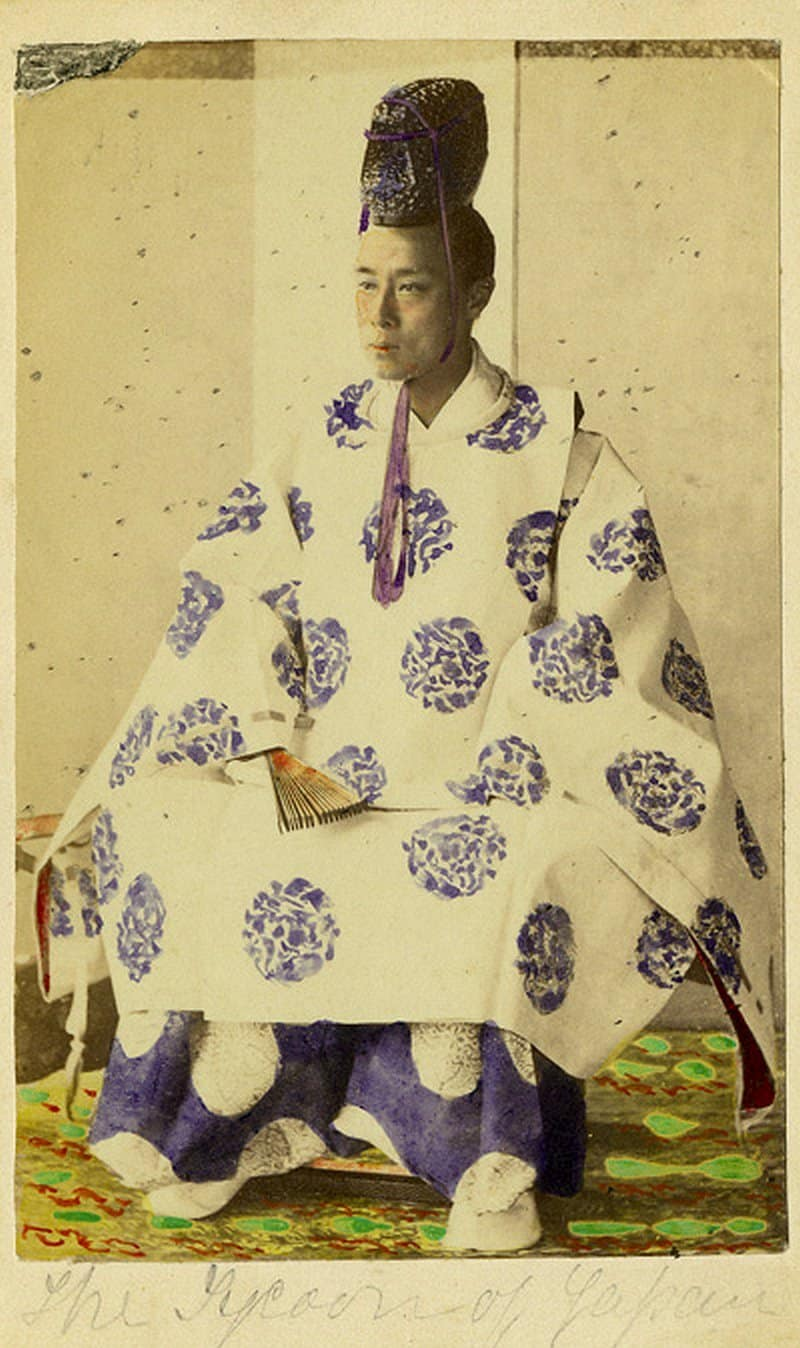 Shogun Yoshinobu Tokugawa photographed in Osaka by Frederick Sutton in 1867